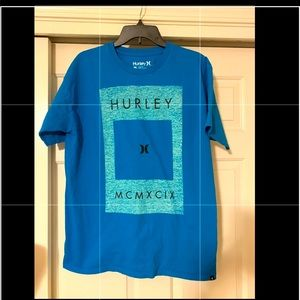 Hurley NEW teal blue men's shirt